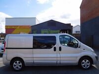 Finance me £7.51 a day & NO VAT Vauxhall Vivaro LWB 6 seat factory fitted crew cab 62 plate (15)