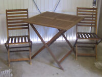 GARDEN PATIO TABLE & CHAIRS