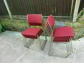 dietiker chair tila kufen shades of red solid and good condition 8 chair