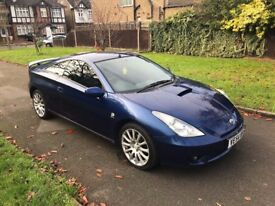 Toyota 1.8 VVT-i Celica Blue 3dr, p/x welcome FREE WARRANTY, FULL HISTORY