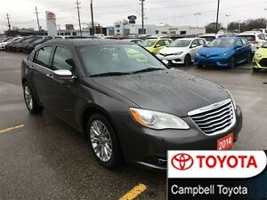2014 Chrysler 200 LIMITED V6 HEATED LEATHER--MOON ROOF