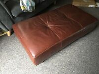 Grange and woodhouse leather footstool