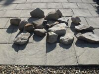 Decorative sandstone stones for garden.