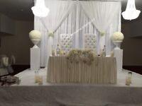 Catering,Throne Chair, Wedding Stage, Sofa, Decor, Dance Floor, Stationery, Chair Covers, Cutlery