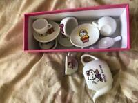My little kitty china tea set