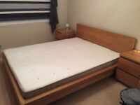 King size bed & new mattress
