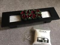 3 Section box set with red roses wax candle