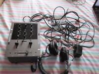 NUMARK M1 2 CHANNEL ALL-PURPOSE MIXER WITH LEADS