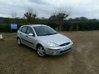 Ford focus 1.6 54reg 12months MOT. NEW CLUTCH. JUST SERVICED. WORKING A.C