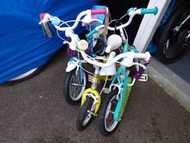 Selection of Kids Bikes x3 as seen