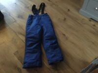 Ski trousers,blue,10-11 years,very good condition due to not having much snowy weather!!