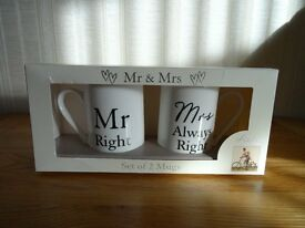 Mr & Mrs Mug Set (New)