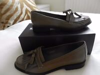 Dune ladies leather brogue/loafer. UK7