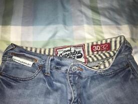 Ladies blue genuine Superdry Jeans
