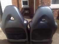 Front mazda rx8 leather electric seats