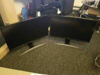 Samsung 24inch 1080p 60inch curved monitors