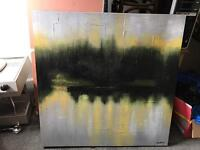 Green Canvas Painting