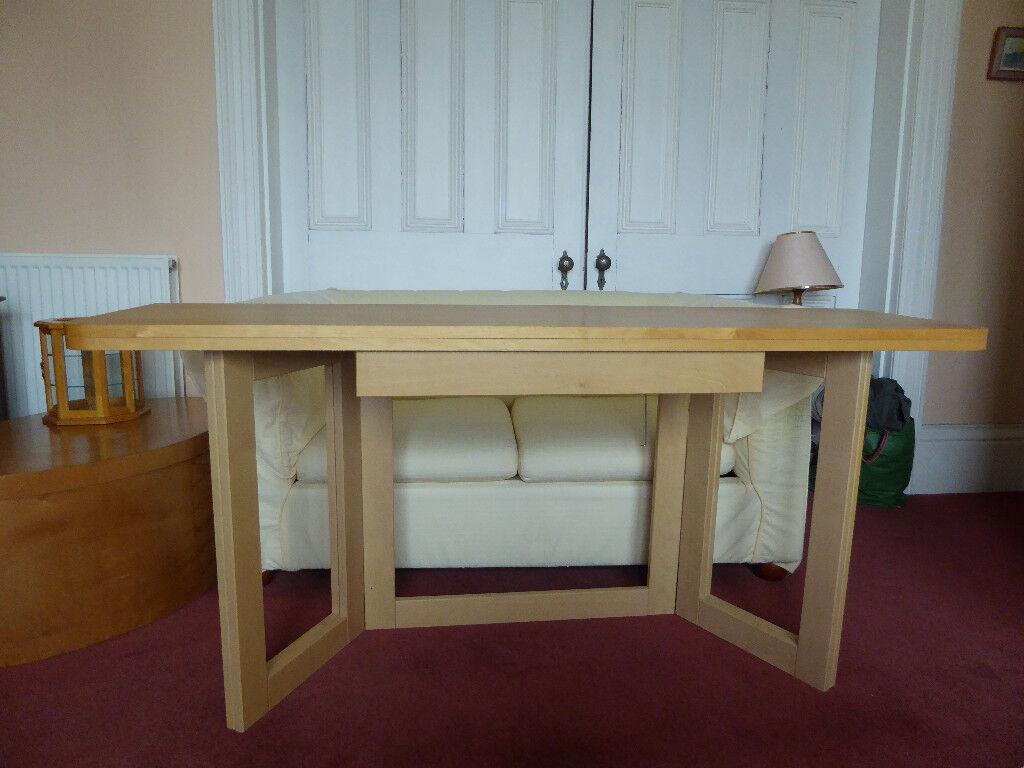 IKEA beech effect folding dining table