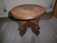 CARVED WOODEN AFRICAN STOOL