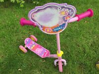 Peppa Pig tri scooter for young child.