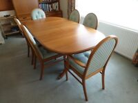 Dining Table (Extending) with Six Upholstered Chairs - Sutcliffe Trafalgar Range