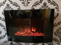 Electric fire and remote