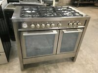 Baumatic BCD1025SS 100cm 5 Burners Dual Fuel Range Cooker Stainless Steel