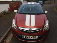 2011 vauxhall corsa exclusive,17 inch alloys,aircon,full service history,unmarks,mot may 2017