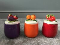 Brand New Fruit Design Canisters