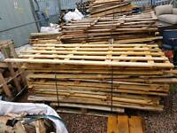 Timber boards fence panels 6' x 3' approx