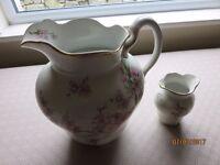 Antique Washroom Jug and Vase Set