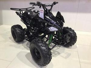 New 125cc 4 Stroke Sport ATV - SEMI AUTO 3 GEARS + REVERSE. Upgraded Performance Exhaust and Suspension - FREE SHIPPING