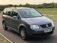 7 Seater, Volkswagen Touran 1.9 TDI S 5dr (5 Seats) 3 M Warranty,F Service History
