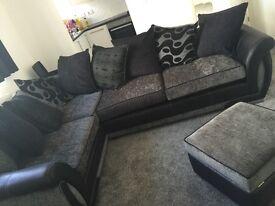 Grey Right hand corna Sofa