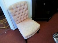 Chair - Quality Fabric Low Seat / High Back Stuart Jones Chamber / Bedroom Chair