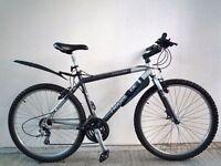"(2206) 26"" 19"" Aluminium RIDGEBACK MOUNTAIN HYBRID BIKE BICYCLE H: 173-188cm"