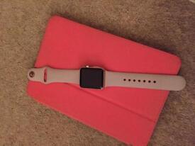 Apple Watch 38mm rose gold & sand strap
