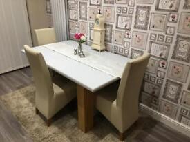 OAK STYLE VENEER TABLE SHABBY CHIC GREY TOP