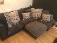 corner sofa and matching 2 seater furniture village Kaman sofa set