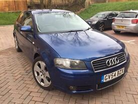 2004 Audi A3, 2L TDi Sport, 3dr, Full Service History, 2 Keys, Long MOT, Mileage 101300, ••£2450•