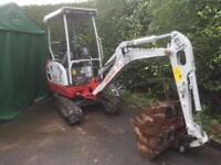 Mini and micro Digger hire, also dumpers, for hire