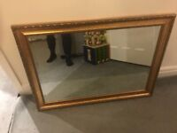 Large gold mirror 76 x 105cm