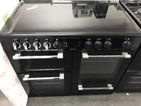 New Graded Leisure CK100C210 Electric Ceramic 100cm Range Cooker - Black RRP £929.99