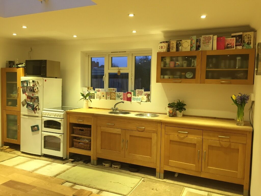 Marks And Spencer Kitchen Furniture Pre Loved Free Standing Marks Spencer Solid Wood Kitchen In