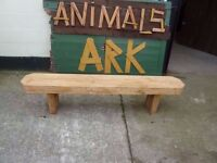 Handmade Oak Bench Delivery Available £65