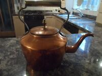 Copper Kettle With Brass Stand