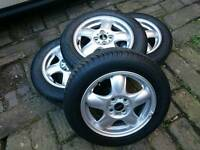 "BMW Mini 5-Star Spooler Design Light Alloy Wheels with tyres - 15"""