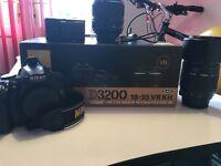 Nikon D3200 With Kit lens 18-55mm Plus a Tamron Af 70-300mm lens