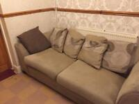 Two three seater dfs sofas, free to collector.