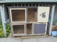 Large solid joiner made hutch..can be a 2 level hutch or 2 separate hutches INVERURIE